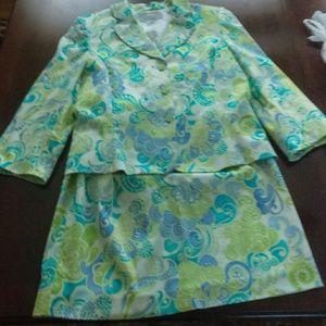 Tahari Arthur S. Levine 2 Piece Skirt Suit